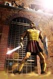 O gladiador ilustração do vetor