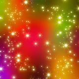 O Glitter stars o fundo abstrato Imagens de Stock