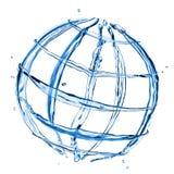 O globo abstrato da água espirra Foto de Stock Royalty Free