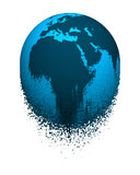 O globo de desintegração ilustração stock