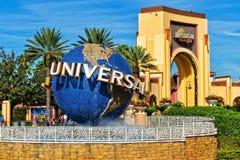 O globo de Universal Studios em Orlando Florida imagens de stock