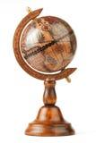 O globo do vintage, separada em um fundo branco Fotos de Stock