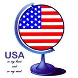 O globo dos EUA ilustração royalty free