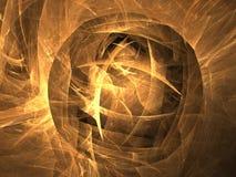 O globo dourado do fractal Fotografia de Stock Royalty Free