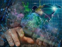O globo, equipa e dígitos imagens de stock royalty free