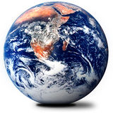 O globo no branco Imagem de Stock Royalty Free