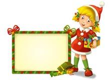 O gnomo do Natal - drawrf - ilustração para as crianças Imagem de Stock