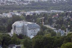 O Goetheanum, situado em Dornach (perto de Basileia), Suíça Foto de Stock