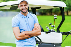 O golfe é meu jogo favorito! fotos de stock
