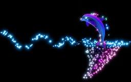 O golfinho saltado do oceano na onda Imagem de Stock