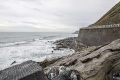 O Golfo da Biscaia em Guipuzcoa Foto de Stock Royalty Free