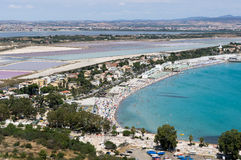 O golfo de Cagliari Imagem de Stock