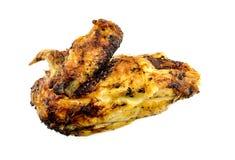 O gourmet roasted o peito de frango isolado no branco Foto de Stock