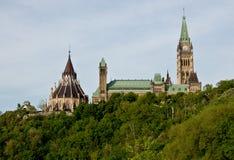 O governo de edifícios do parlamento de Canadá Fotos de Stock Royalty Free