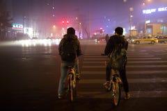 O governo do Pequim lançou o alerta alaranjado Imagens de Stock