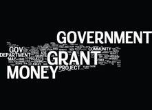 O governo Grant Money Word Cloud Concept Fotografia de Stock