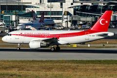 O governo turco de TC-ANA, Airbus A319-115 Foto de Stock Royalty Free