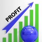 O gráfico de lucro mostra o rendimento e o retorno de vendas Fotos de Stock Royalty Free