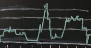 O gráfico de negócio 3d de alta resolução do sucesso rende filme