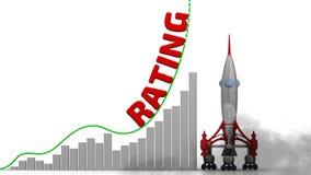O gráfico do crescimento de avaliação ilustração royalty free