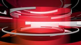 o gráfico do movimento 3D curva a animação abstrata ilustração stock