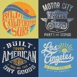 O gráfico do t-shirt do vintage ajustou 1 Fotos de Stock Royalty Free