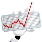 O gráfico que vai acima Imagens de Stock