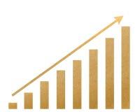 O gráfico recicl o ofício de papel para faz a vara da nota Imagens de Stock