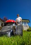 O gramado dianteiro sega Imagem de Stock
