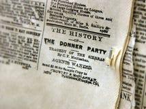 O grampeamento de jornal do partido de Donner fotografia de stock royalty free