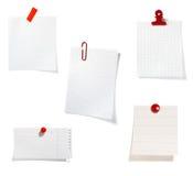 O grampo vermelho anota o grupo do escritório de negócio Fotografia de Stock
