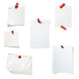 O grampo vermelho anota o grupo do escritório de negócio Imagem de Stock Royalty Free