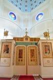 O grande altar e a abóbada da capela da trindade santamente mim imagens de stock