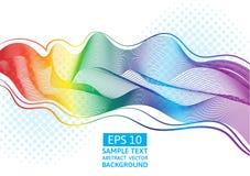 O grande arco-íris do vetor abstrato acena a linha colorida do inclinação Fotos de Stock