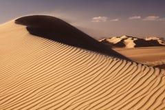 O grande deserto de sahara perto do siwa Fotografia de Stock