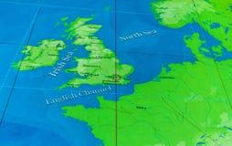 O grande mapa - um mapa gigantesco de todos os mares, oceanos e continentes em um dos salões do museu marítimo nacional, Londres, fotografia de stock royalty free
