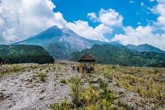 O grande Merapi fotografia de stock royalty free