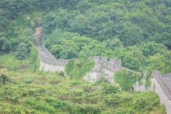 O Grande Muralha de China em Dandong fotos de stock royalty free