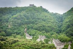 O Grande Muralha de China em Dandong fotos de stock