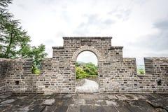 O Grande Muralha de China em Dandong imagens de stock