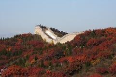 O Grande Muralha na porcelana Fotos de Stock