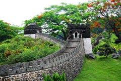O Grande Muralha no parque temático chinês esplêndido da cultura fotografia de stock royalty free