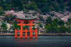 O grande O-Torii do santuário de Itsukushima foto de stock royalty free