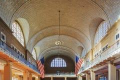 O grande registro Salão de Ellis Island Immigration Museum imagem de stock royalty free