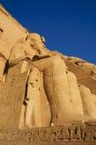 O grande templo de Abu Simbel (Nubia, Egipto) Imagens de Stock