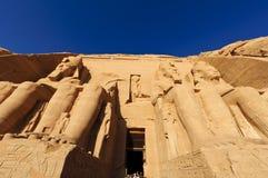 O grande templo de Abu Simbel (Nubia, Egipto) Imagem de Stock
