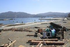 O grande terremoto do leste de Japão Fotografia de Stock Royalty Free
