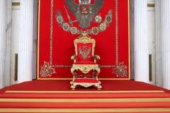 O grande trono imperial imagens de stock