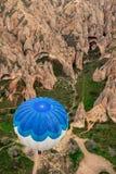 O grande voo Cappadocia do balão é os melhores lugares a voar com os balões de ar quente Foto de Stock
