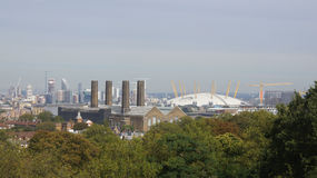 The O2 from Greenwich hill near London Royalty Free Stock Image